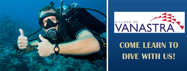 Come learn to dive with Cross Current Divers in Vanastra